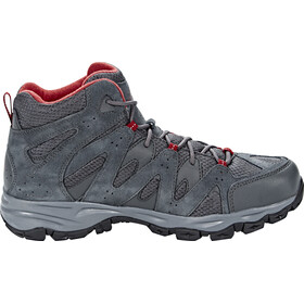 The North Face Storm Hike Mid GTX Shoes Men Dark Shadow Grey/Rudy Red